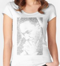 Martin Luther King Jr. - MLK Typographic Women's Fitted Scoop T-Shirt