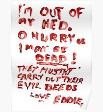 Eddie's Note to Dr. Scott Poster