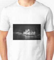 Hungarian Parliament Night BW T-Shirt