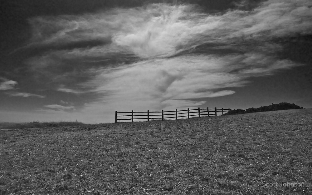 Fence Overlooking The Bay by Scott Johnson