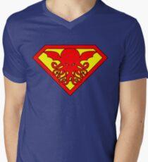 Super Cthulhu Men's V-Neck T-Shirt