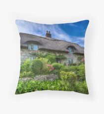 Godshill Cottage Throw Pillow