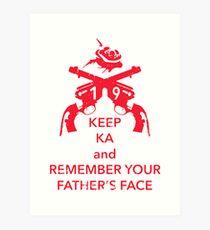Keep KA - red edition Art Print