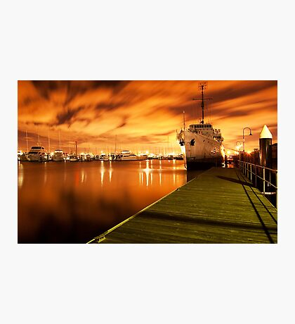 Williamstown at night Photographic Print