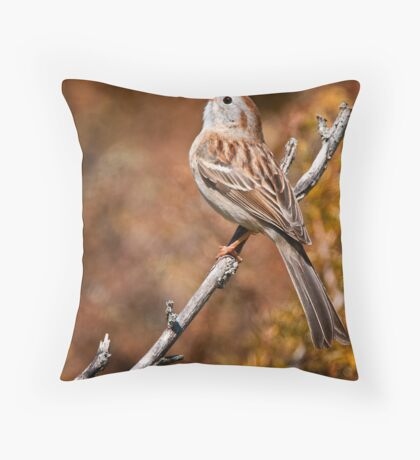 Field Sparrow Throw Pillow