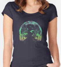 headphone nature Women's Fitted Scoop T-Shirt