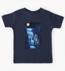 Fall wolf under the moon Kids Clothes