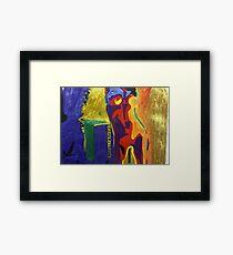 Colourful Nude Framed Print