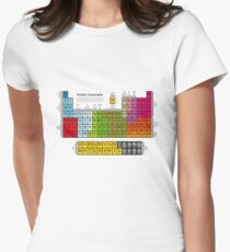 Periodic table Women's Fitted T-Shirt