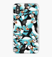 SPLASHYARTYSTORY - ALL ABOUT PUFFINS iPhone Case/Skin