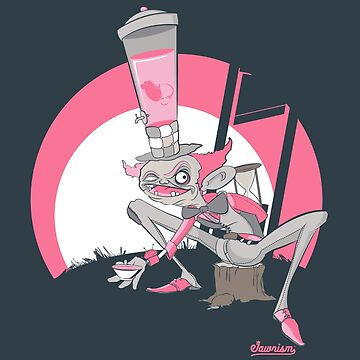 Mad Hatter Tea Party Graffiti Character by Jawnism