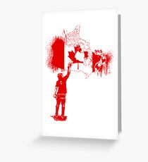 Canada Tagger Greeting Card