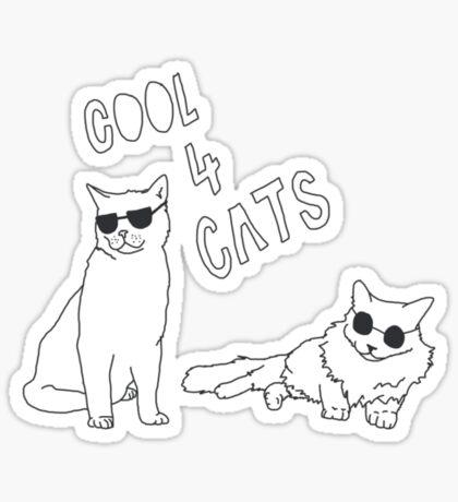 Cool 4 Cats Sticker