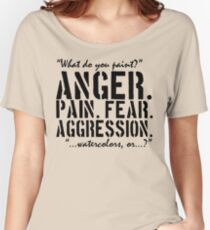 Spaced | Anger. Pain. Fear. Aggression. Women's Relaxed Fit T-Shirt