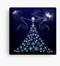 Christmas Tree and Space Canvas Print