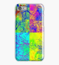 trees in london andy warhol style patchwork iPhone Case/Skin