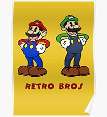 Retro Bros Poster