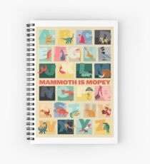 Mammoth is Mopey Poster Spiral Notebook
