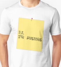 P.S. I'm awesome post-it-note T-Shirt