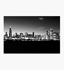 B&W Chicago Skyline Photographic Print