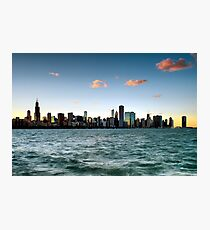 Chicago Skyline Sunset Photographic Print