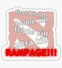 Rampage!!! Sticker