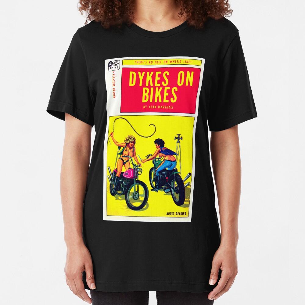 """Dykes On Bikes"" Slim Fit T-Shirt"