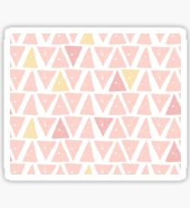Hipster backgrounds seamless hand drawn triangle pattern in pink Sticker