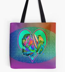Glam rose with heart Tote Bag