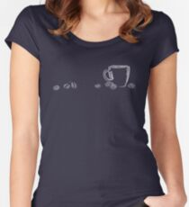 coffee cup chalk Women's Fitted Scoop T-Shirt
