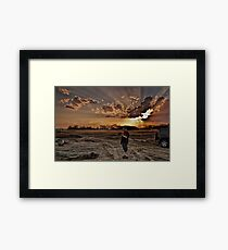 Did I just take a photo of my thumb? Framed Print