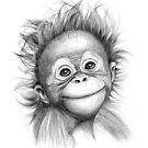 Baby ornag outan G2015-121 monkey by schukinart