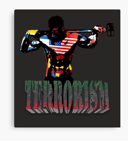 smash terrorism Canvas Print