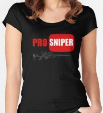 Camiseta entallada de cuello ancho Francotirador