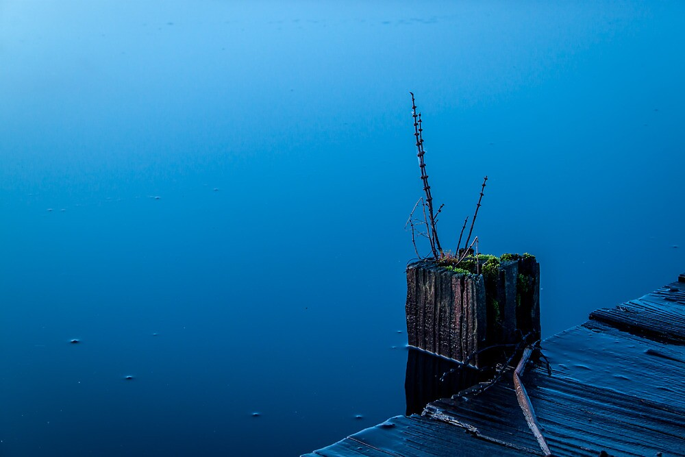 Simplistic Blue by James Banks