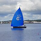 Bright Blue Sail by MaryinMaine