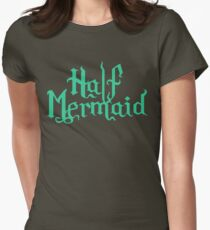 Half Mermaid Womens Fitted T-Shirt