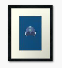 Cool Megaman Helmet Picture Framed Print