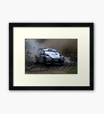 Mads Ostberg - World Rally Championship Australia - Sunday 2013 Framed Print