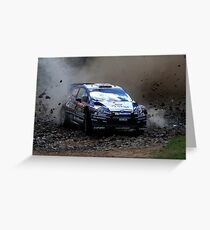 Mads Ostberg - World Rally Championship Australia - Sunday 2013 Greeting Card