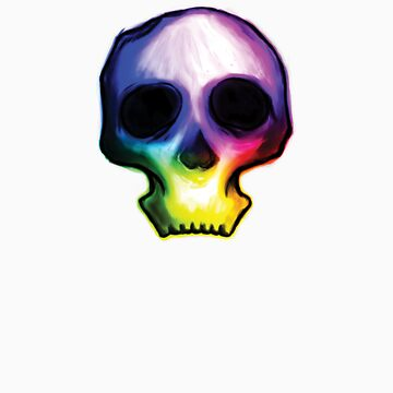 Rainbow Skull by afifsohaili