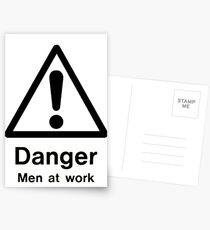 danger men at work Postcards
