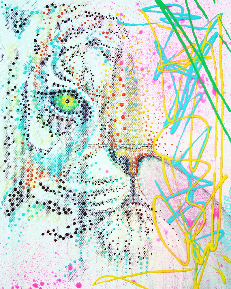 Bubble Gum Tiger by Laura Barbosa