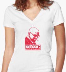KOJAK Women's Fitted V-Neck T-Shirt