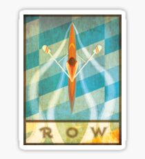 The Serenity of Sculling Sticker