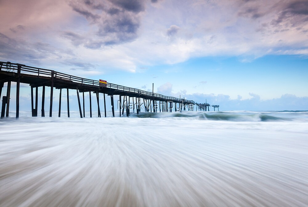 North carolina obx cape hatteras broken fishing pier by for Nc fishing piers