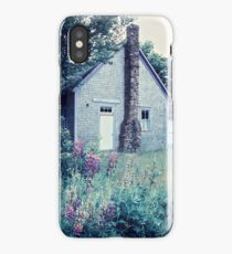 Old Schoolhouse with Lupins iPhone Case/Skin