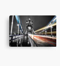Tower Bridge Lights Canvas Print