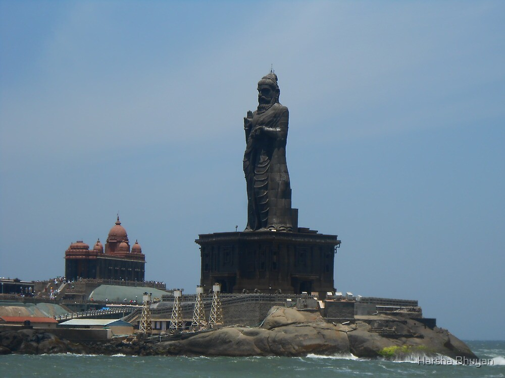Thiruvalluvar Statue and Vivekananda Rock Memorial by Harsha Bhuyan