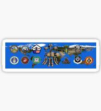 Fallen Soldier Battle Cross Veteran and 9/11 Memorial Wall Painting Sticker